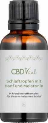 Vorschau: In braune Pipettenflasche CBD Vital Schlaftropfen 30 ml