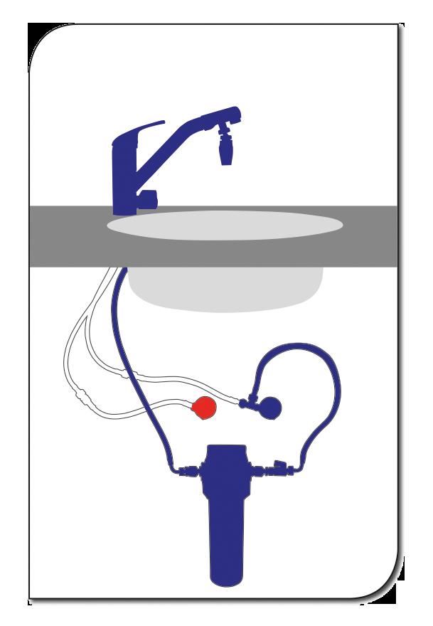 Schematische Darstellung der Einbauvariante B