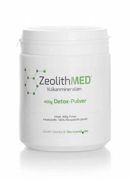 1 Dose Zeolith MED Detox-Pulver 400g, 100% reines Naturmineral