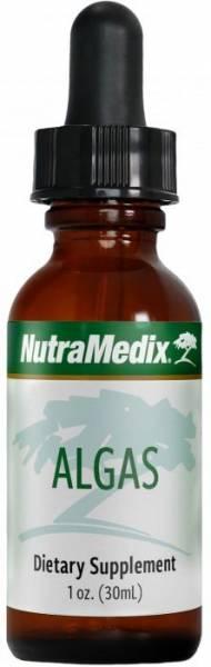 Schlanke Flasche mit Nutramedix Algas Tropfen 30ml