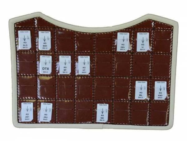 Vorschau: Ledereinsatz mit Frequenz-Chipcards