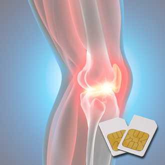 Schmerzhaftes Knie virtuell dargestellt