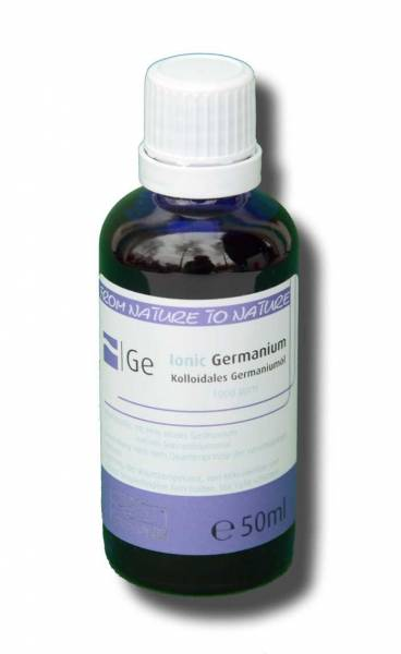 Kolloidales Germanium - 100% bio-verfügbar – Ionic Germanium-Öl enthält 99,99% reines Germanium und natives Sonnenblumenöl - in 50ml blauer Flasche