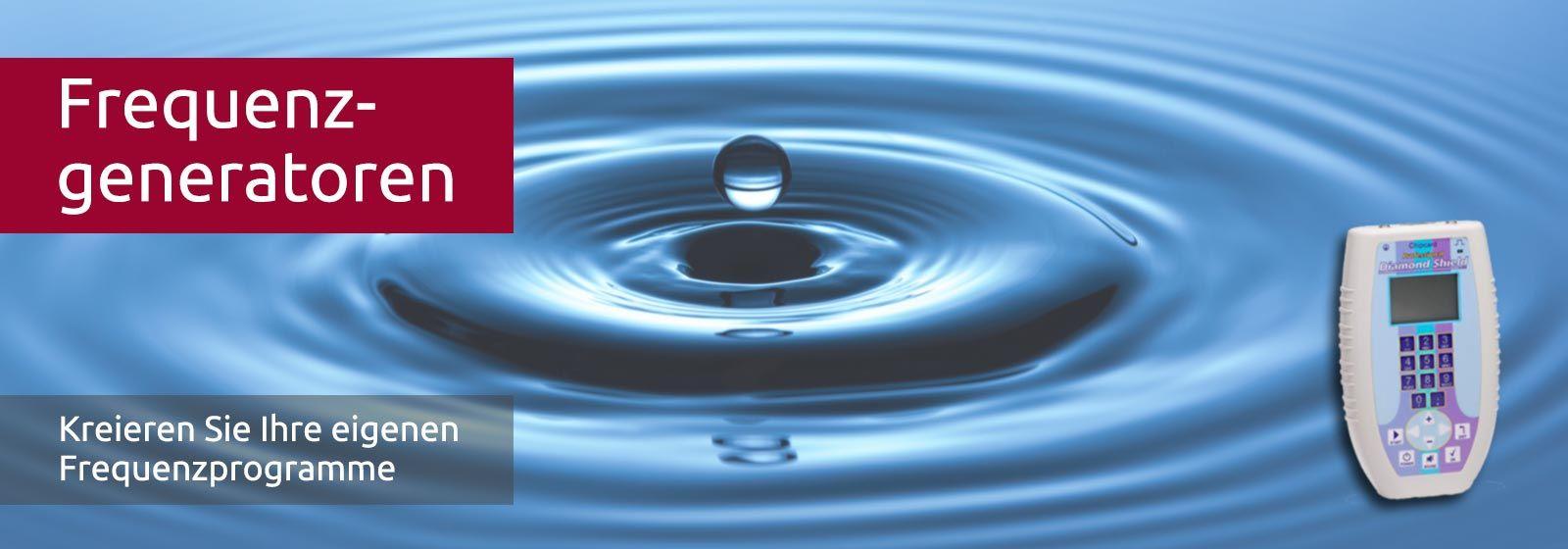 Frequenzgenerator Diamond Shield professional- Ein Tropfen fällt ins Wasser