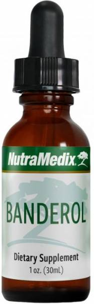 Braunglas-Flasche Nutramedix Banderol Tropfen 30ml
