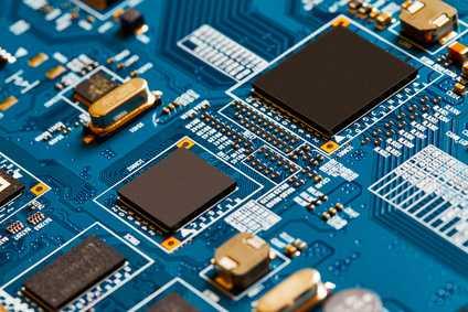 Computerplatine mit mehreren Mikrochips
