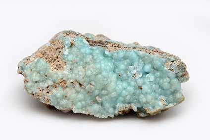 Stein mit blauer Beschichtung