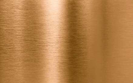 Eine metallische Kupferplatte ist zu sehen