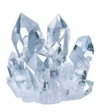 Glitzernder Bergkristall mit vielen schönen Auswüchsen