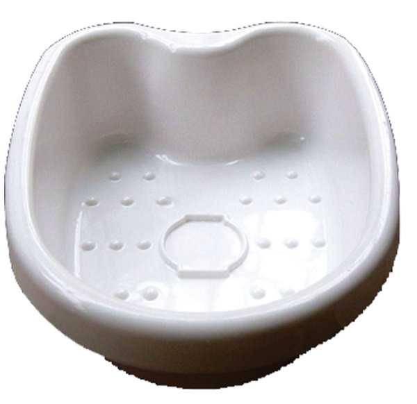 Weiße Fußwanne für Detox Elektrolyse Fußbad