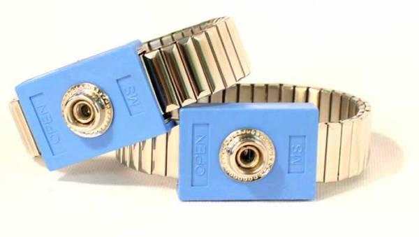 Paar Handgelenk-Manschetten aus Metall für Diamond Shield Zapper