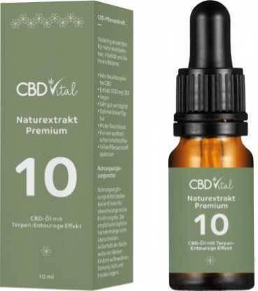 Vorschau: gruene Verpackung, Braunglas-Pipettenflasche CBD-Öl Premium 10%