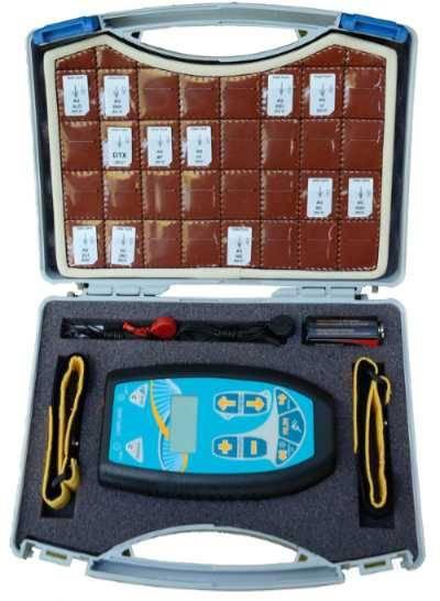 Koffer Ledereinsatz mit Frequenz-Chipcards