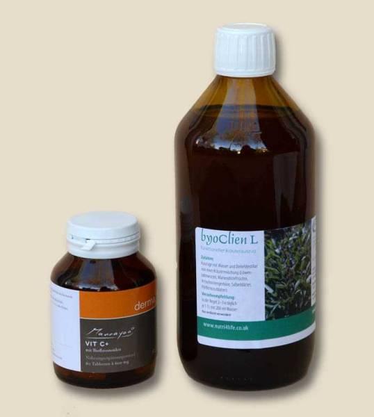 Den Körper entgiften mit Detox-Kur Basis – Entschlacken mit Darmreinigung und Darmsanierung – Leber entgiften mit Detox Plan