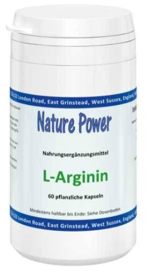 Eine Dose L-Arginin hochdosiert - 60 pflanzliche Kapseln à 500mg