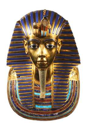 Goldene ägyptische Pharaonenmaske