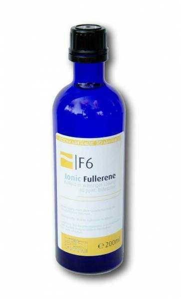 Kolloidales Fulleren F6 mit 40ppm in lichtschützende Blauglasflasche