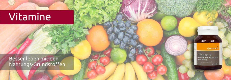 Vitamine - Vitamin D3 K2 wichtig für ein starkes Immunsystem - Früchte und Gemüse